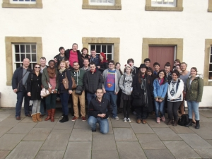 Durham City students outside the museum